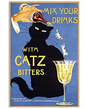 Whimsical vintage liquor black cat ad for bitters 16x24 Poster front