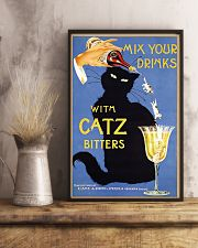 Whimsical vintage liquor black cat ad for bitters 16x24 Poster lifestyle-poster-3