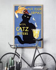 Whimsical vintage liquor black cat ad for bitters 16x24 Poster lifestyle-poster-7