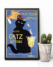 Whimsical vintage liquor black cat ad for bitters 16x24 Poster lifestyle-poster-8