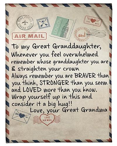 the letter- GREAT GRANDMA