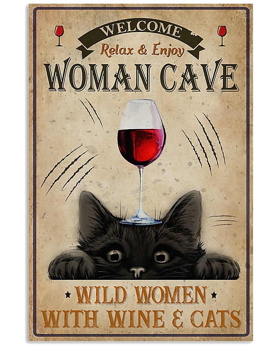 Wine And Cats Vertical 1 16x24 Poster