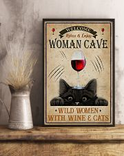 Wine And Cats Vertical 1 16x24 Poster lifestyle-poster-3