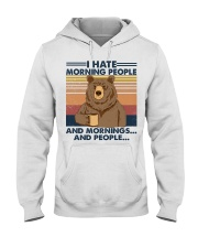 Camping I Hate Morning People Hooded Sweatshirt front