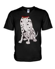 Dalmatian Costume T-Shirt for Halloween Dog Animal V-Neck T-Shirt thumbnail