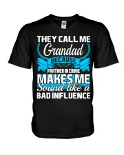 They Call Me Grandad Partner In Crime Funny Tshirt V-Neck T-Shirt thumbnail