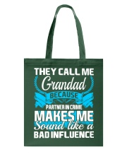 They Call Me Grandad Partner In Crime Funny Tshirt Tote Bag thumbnail
