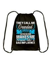 They Call Me Grandad Partner In Crime Funny Tshirt Drawstring Bag tile
