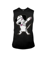 Funny Cool Dabbing Dalmatian Dog T-Shirt Sleeveless Tee thumbnail