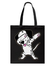 Funny Cool Dabbing Dalmatian Dog T-Shirt Tote Bag tile