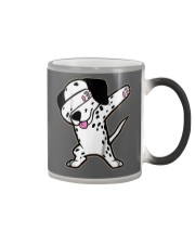 Funny Cool Dabbing Dalmatian Dog T-Shirt Color Changing Mug thumbnail