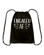 Engaged AF T-Shirt - Engagement Bridal Wedding Drawstring Bag tile