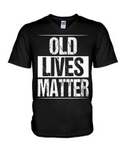 Birthday Gifts For Men Old Lives Matter Shirt 60th V-Neck T-Shirt thumbnail