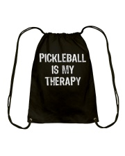 Pickleball Is My Therapy T-shirt Drawstring Bag thumbnail