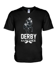 Derby Sanchez Funny Shirt When Cinco De Mayo Derby V-Neck T-Shirt thumbnail