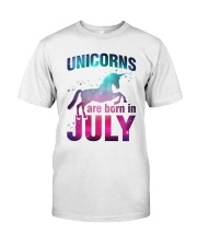 Unicorns Are Born in July T-Shirt Gift For July Qu Classic T-Shirt thumbnail