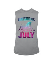 Unicorns Are Born in July T-Shirt Gift For July Qu Sleeveless Tee thumbnail