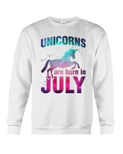 Unicorns Are Born in July T-Shirt Gift For July Qu Crewneck Sweatshirt thumbnail