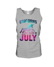 Unicorns Are Born in July T-Shirt Gift For July Qu Unisex Tank thumbnail