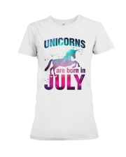 Unicorns Are Born in July T-Shirt Gift For July Qu Premium Fit Ladies Tee thumbnail