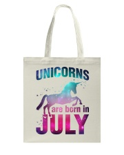 Unicorns Are Born in July T-Shirt Gift For July Qu Tote Bag thumbnail