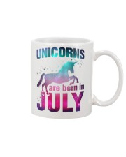 Unicorns Are Born in July T-Shirt Gift For July Qu Mug thumbnail