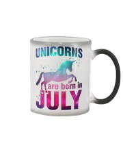 Unicorns Are Born in July T-Shirt Gift For July Qu Color Changing Mug thumbnail