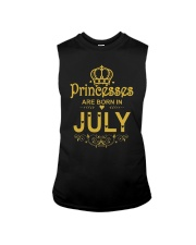 Princesses Are Born in July T-shirt Funny Birthday Sleeveless Tee thumbnail