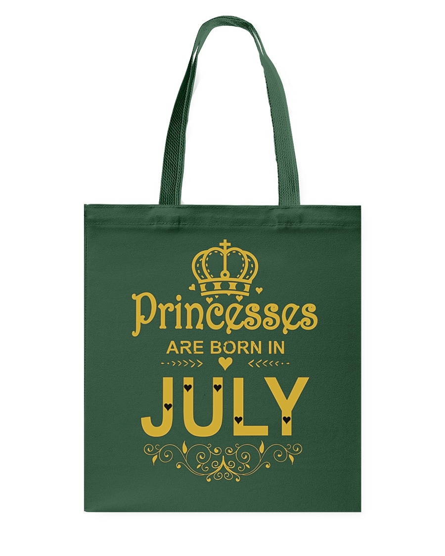 Princesses Are Born in July T-shirt Funny Birthday Tote Bag