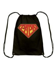 Super Papa Shirt Superhero Dad Daddy For Father Pa Drawstring Bag thumbnail