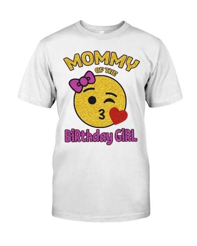 Mother Of The Birthday Girl Emoji Pink Shirt Kiss