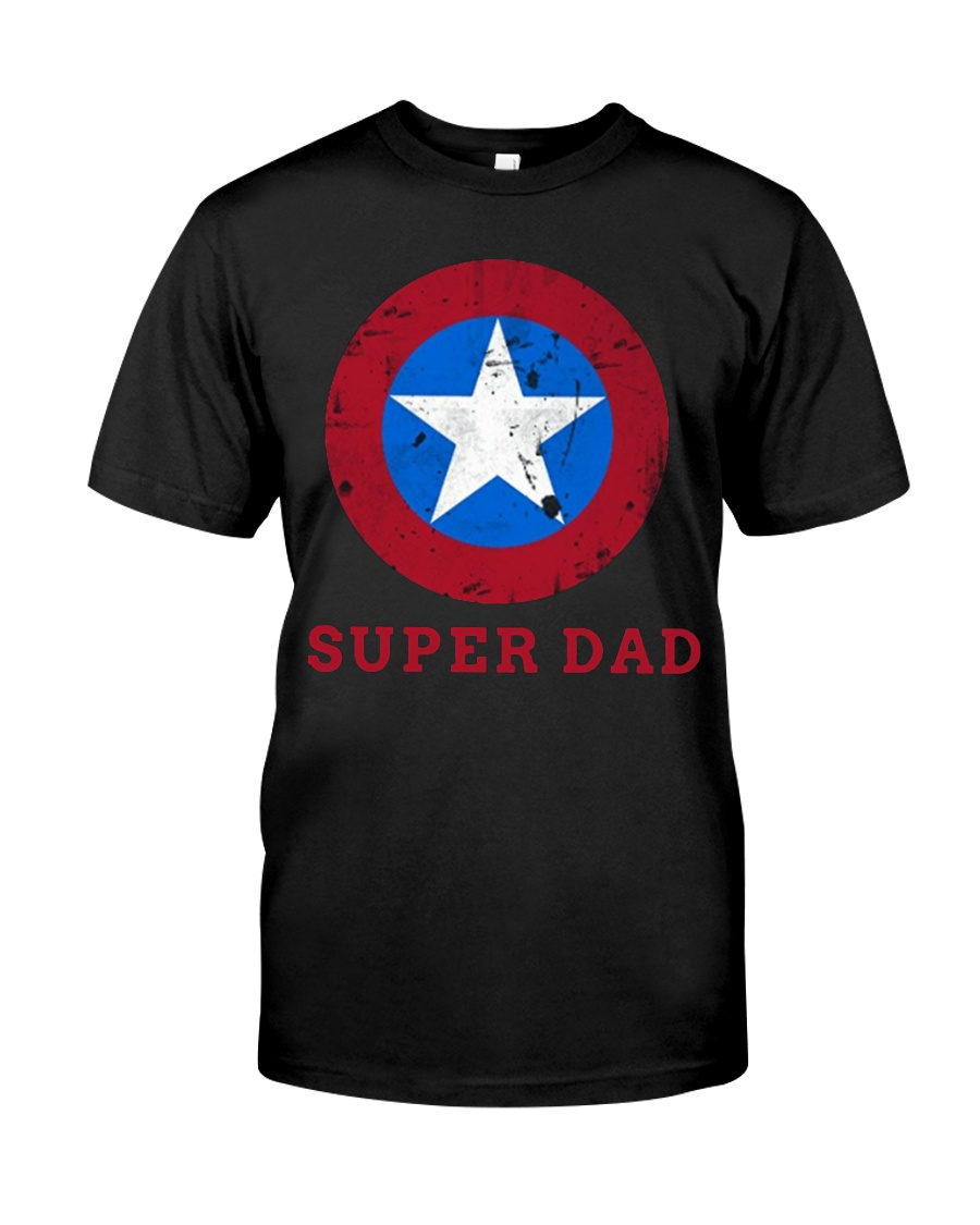 Super Dad T-Shirt Funny Superhero Father's Day Tsh Classic T-Shirt