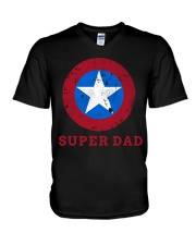 Super Dad T-Shirt Funny Superhero Father's Day Tsh V-Neck T-Shirt thumbnail
