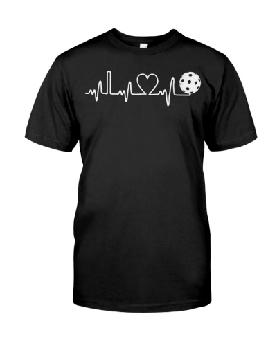 Pickleball Heartbeat I Love Pickleball T-Shirt