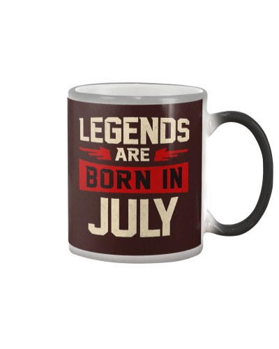 Legends Are Born In July T-Shirt - Birthday Perfec