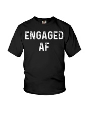 Engaged AF  Funny Couple Newlywed T-Shirt Youth T-Shirt thumbnail