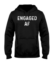 Engaged AF  Funny Couple Newlywed T-Shirt Hooded Sweatshirt tile