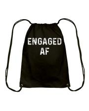 Engaged AF  Funny Couple Newlywed T-Shirt Drawstring Bag thumbnail