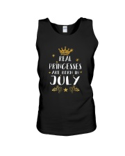Real Princesses Are Born In July Gold Birthday Gif Unisex Tank thumbnail
