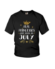 Real Princesses Are Born In July Gold Birthday Gif Youth T-Shirt thumbnail