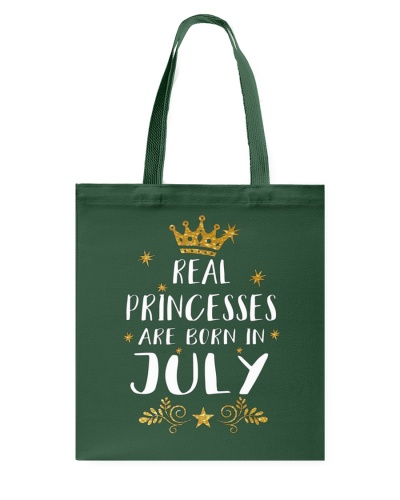 Real Princesses Are Born In July Gold Birthday Gif
