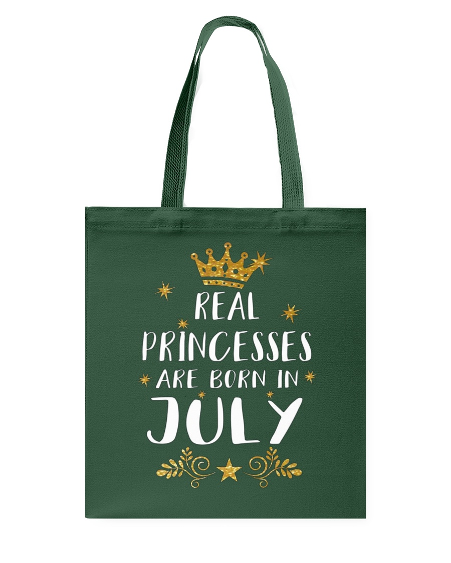 Real Princesses Are Born In July Gold Birthday Gif Tote Bag