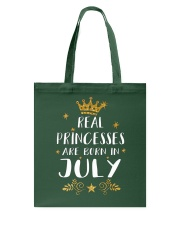 Real Princesses Are Born In July Gold Birthday Gif Tote Bag front