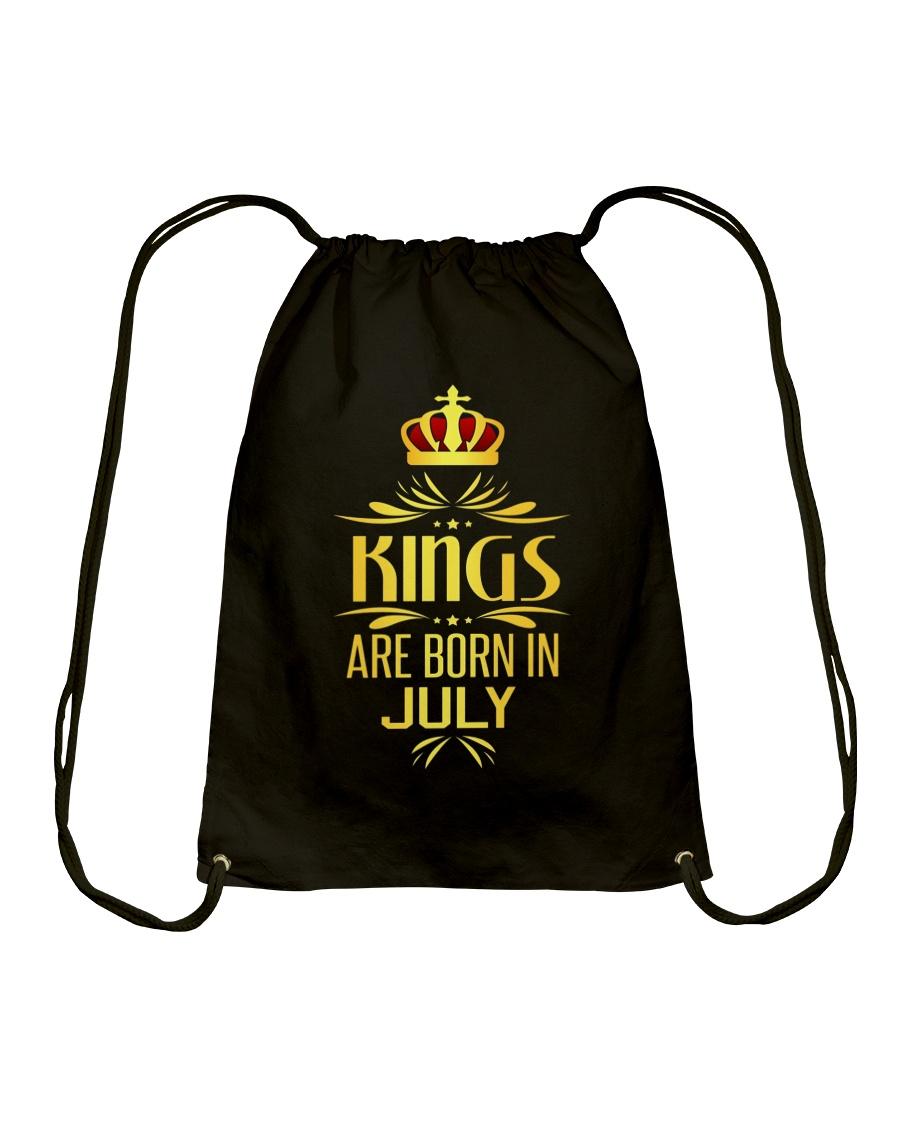 Kings Are Born In July T-shirt Drawstring Bag