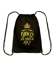 Kings Are Born In July T-shirt Drawstring Bag front