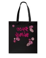 5 Bling Pink Diamond Paparazzi Reverse Text Live M Tote Bag thumbnail