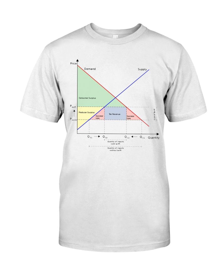Tariffs Foster Political Dysfunction - Trump Chart Classic T-Shirt