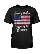 Patriotic Betsy Ross American Flag Shirt with 13 S Classic T-Shirt front
