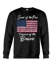 Patriotic Betsy Ross American Flag Shirt with 13 S Crewneck Sweatshirt thumbnail