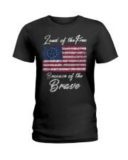 Patriotic Betsy Ross American Flag Shirt with 13 S Ladies T-Shirt thumbnail